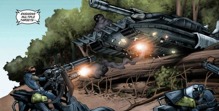 End of Nations Comic Tank Battle